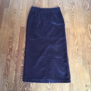 Faux Suede Maxi Skirt
